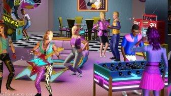 Вечеринка в стиле 80-ых из «The Sims 3 Стильные 70-е, 80-е, 90-е»