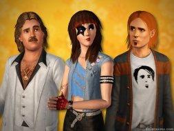 Прически из каталога «The Sims 3 Стильные 70-е, 80-е, 90-е»