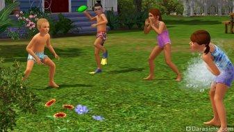 Бой шариками с водой в «The Sims 3 Seasons»