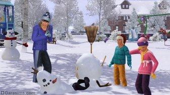 Снеговики в «The Sims 3 Seasons»