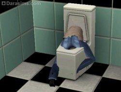 Коварный унитаз [The Sims 3]