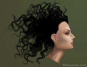 Рисование волос с помощью кистей в Photoshop