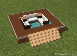 Строительство джакузи в Симс 3