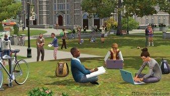 Студенты в «The Sims 3 University Life»