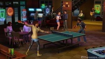 Настольный теннис в «The Sims 3 University Life»