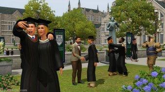 Выпускной в «The Sims 3 University Life»
