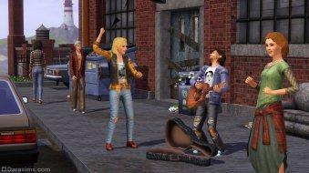 Уличный концерт в 90-ых из каталога «The Sims 3 Стильные 70-е, 80-е, 90-е»