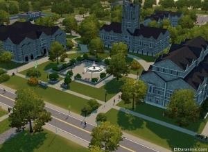 Площадь в «The Sims 3 Студенческая жизнь»