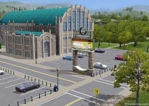 Стадион в «The Sims 3 Студенческая жизнь»
