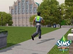 Опаздывающий студент в «The Sims 3 Студенческая жизнь»
