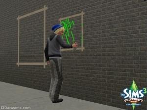 Граффити в «The Sims 3 Студенческая жизнь»