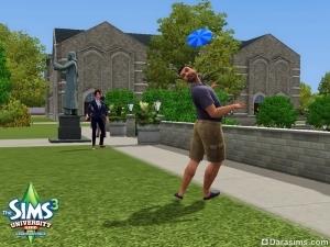 Фрисби в «The Sims 3 Студенческая жизнь»