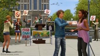 Интервью и протест в «Симс 3 Студенческая жизнь»