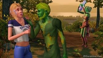 Персонажи-растения в «Симс 3 Студенческая жизнь»