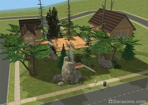 Строительство домика на дереве в Симс 2