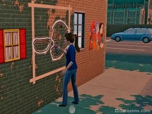 Навык Стрит-арт и граффити в «Симс 3 Студенческая жизнь»