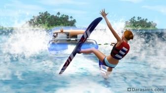 Водные лыжи в «The Sims 3 Island Paradise»