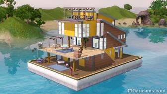 Плавучий дом в «The Sims 3 Island Paradise»