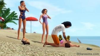 Спасатели в «The Sims 3 Island Paradise»