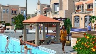 Бар в бассейне в «The Sims 3 Island Paradise»