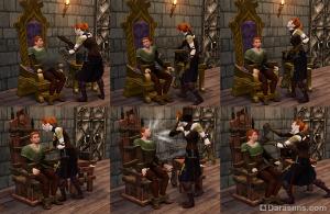 Стул для допросов в «Симс Средневековье: Пираты и знать»