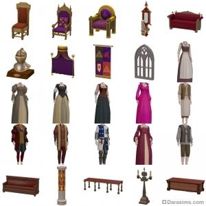 Средневековый набор «Гувернер Тюдоров» в The Sims 3 Store