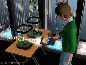Навык Наука в «Симс 3 Студенческая жизнь»