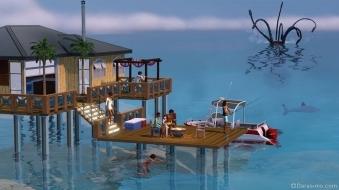 Кракен в «The Sims 3 Island Paradise»