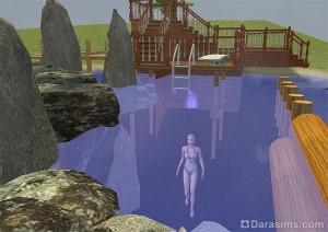 Озеро, пригодное для купания, в Симс 2