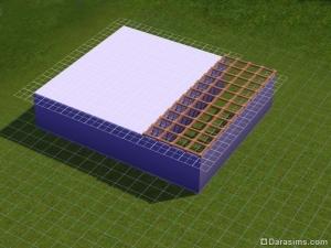 Строительство косого навеса в The Sims 3