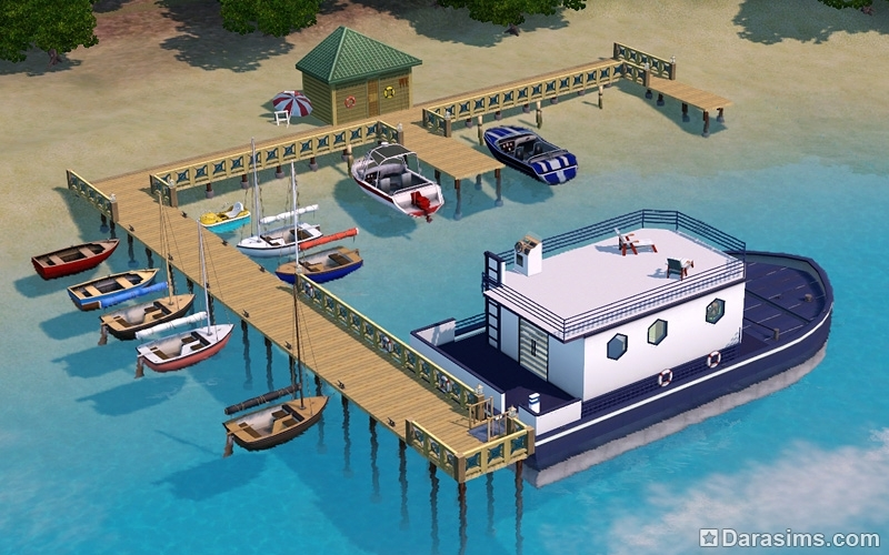 Три в одном: плавучий дом, пристань для лодок и парковка для гидроплана