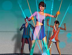 Лазерная арфа в «Симс 3 Вперед в будущее»