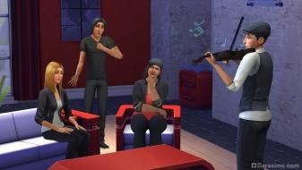 Игра на скрипке в Симс 4
