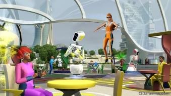Кафе будущего в «The Sims 3 Into the Future»