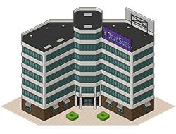 Офисные небоскребы-близнецы из Сансет Вэлли [the Sims 3]