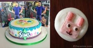 Празднование 14 годовщины The Sims в офисах EA