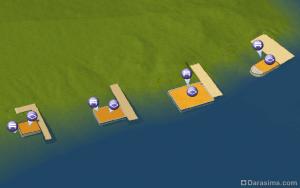 Строительство портов и плавучих домов в CAW