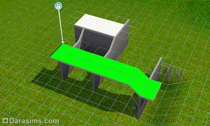 Как добавить под лестницей скос стены в Симс 3
