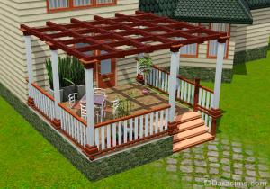 Забор на колоннах без зазора в Симс 3