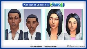 Фэнмейд на тему «Как будут выглядеть дети в The Sims 4»