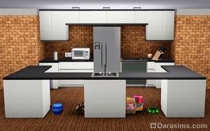 Манипуляции с кухонными тумбами в Симс 3
