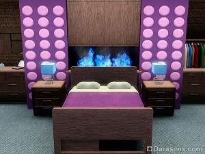 Комнатный камин с цветным пламенем в Симс 3