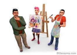 Рендер из Симс 4 - живопись