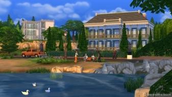 Городской пруд в Симс 4