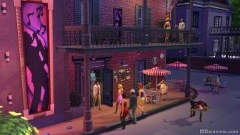 Городское кафе в Симс 4