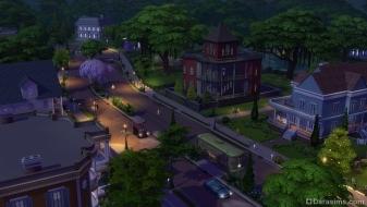 Городок в Симс 4