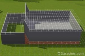 Строительство гаража в доме с фундаментом в «Симс 3»