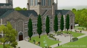 Обзор университетского городка и студенческой жизни в Симс 3