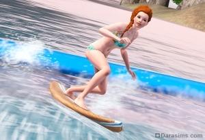 Волновая установка «Солнце, серфинг и вода» в The Sims 3 Store