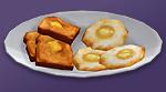 Яйцо с гренками